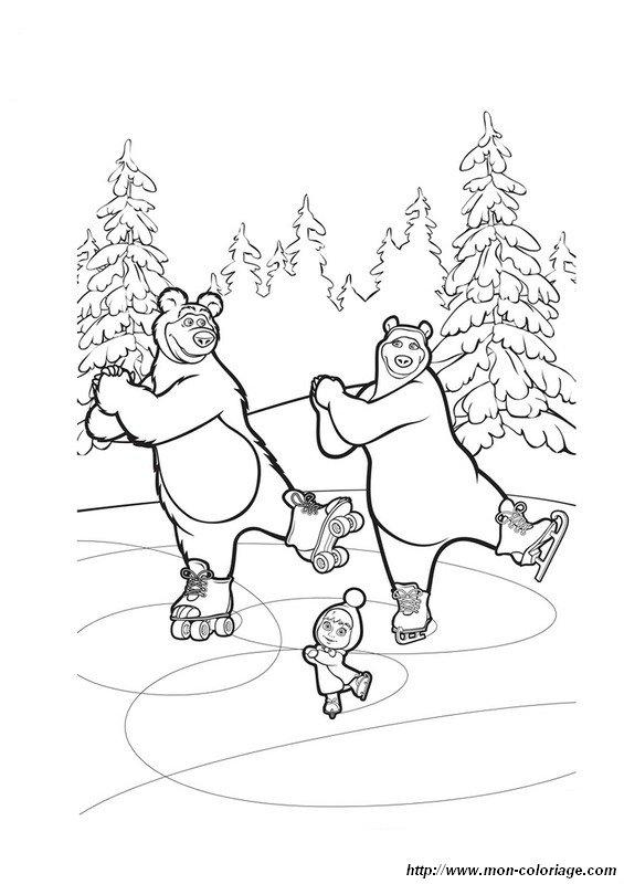 Colorare masha e l 39 orso disegno colorare orso for Masha e orso disegni da colorare