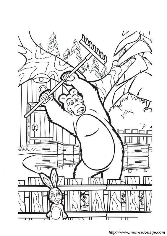 Colorare masha e l 39 orso disegno mascha1 for Masha e orso disegni da colorare