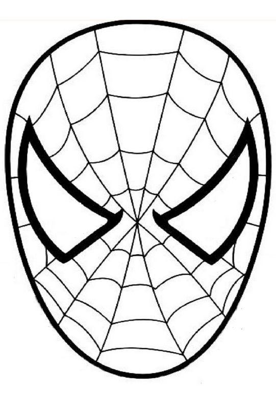 Maschera Di Spiderman Da Colorare.Colorare Disegni Da Ritagliare Disegno La Bella Maschera Di Spiderman