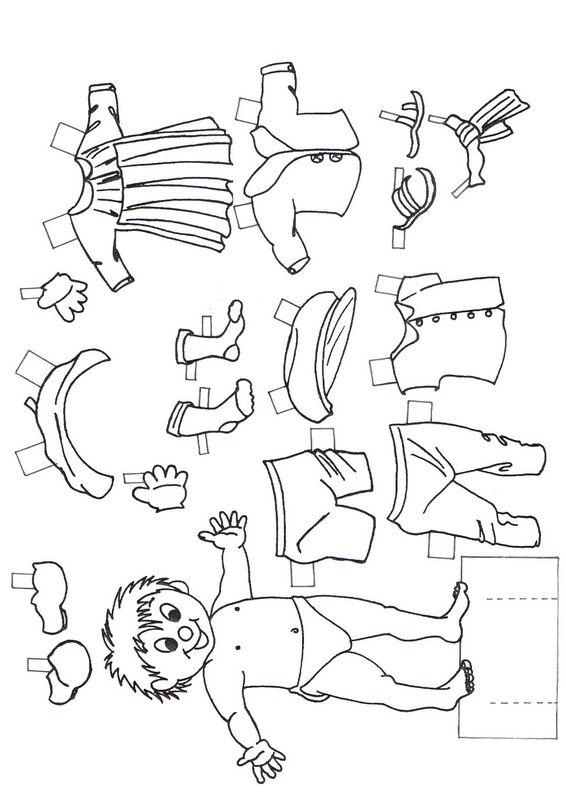 Colorare disegni da ritagliare disegno molti vestiti for Disegni da stampare colorare e ritagliare