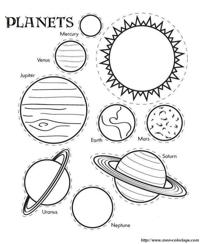 Colorare Disegni Da Ritagliare Disegno Pianeti Del Sistema Solare