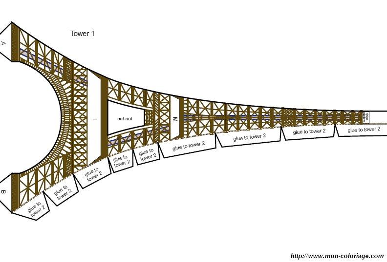 Colorare Disegni Da Ritagliare Disegno Tour Eiffel 3