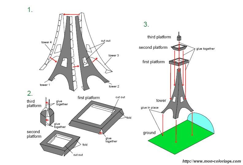 Colorare Disegni Ritagliare Disegno Tour Eiffel