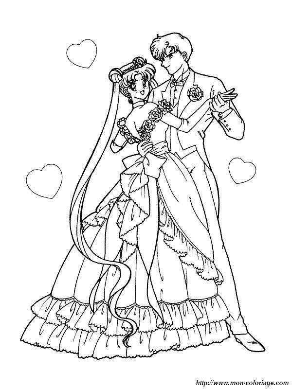Colorare Matrimonio Disegno Sailor Moon Matrimonio