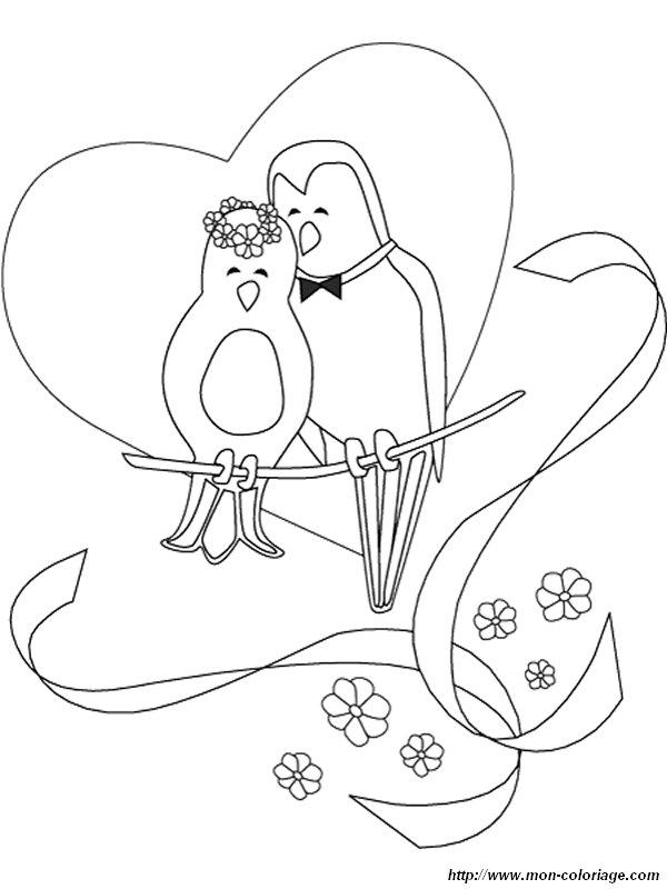 Colorare Matrimonio Disegno Uccello Matrimonio