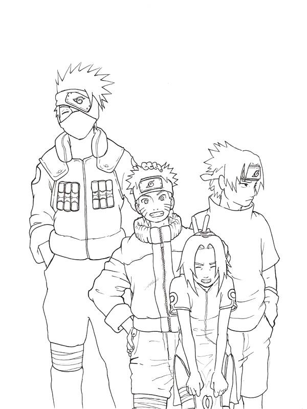 Colorare Naruto Disegno Gli Eroi Del Manga Naruto