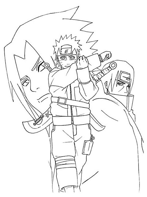 Colorare Naruto Disegno Sasuke Uchiha