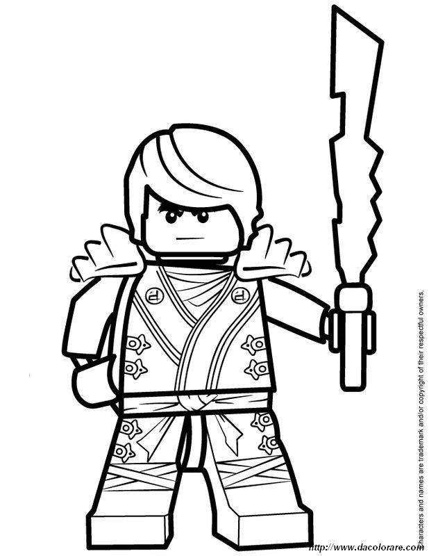 Colorare Ninjago Disegno Con La Sua Arma Di Grandi Dimensioni