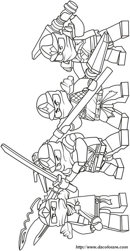 Colorare Ninjago Disegno La Squadra E Pronta