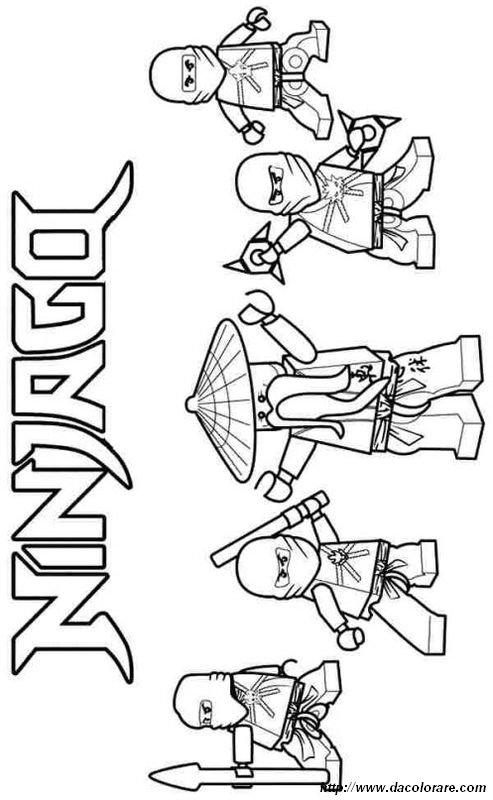 colorare ninjago disegno tutti gli eroi del ninjago. Black Bedroom Furniture Sets. Home Design Ideas