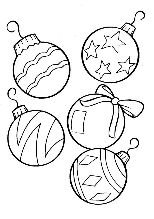 Decorazioni Di Natale Disegni.Colorare Natale Disegno Decorazioni Di Natale