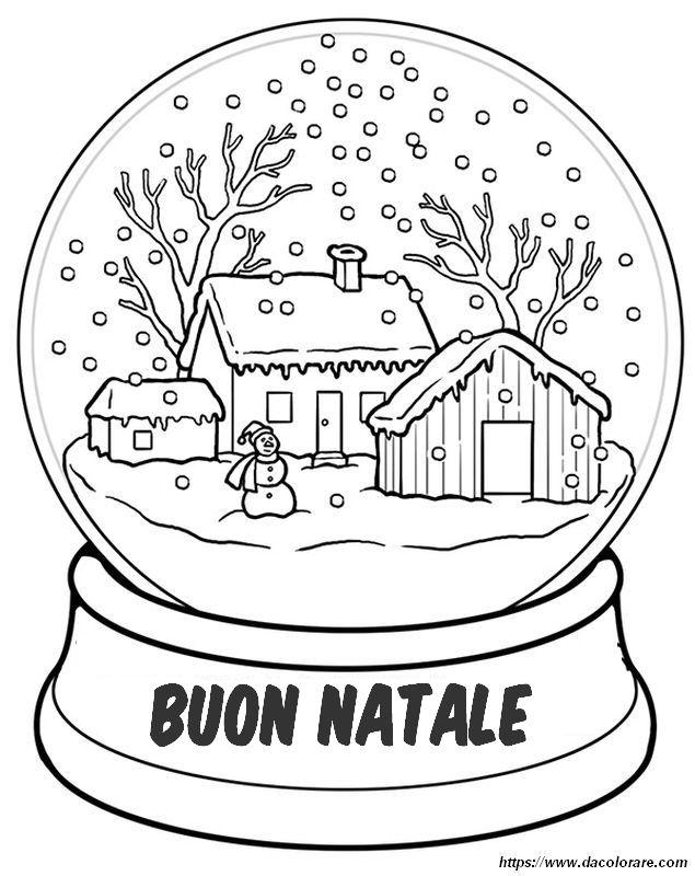 Disegni Paesaggi Di Natale.Colorare Natale Disegno Paesaggio Innevato