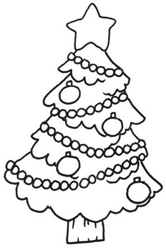 Albero Di Natale Da Colorare.Colorare Natale Disegno Piccolo Albero Di Natale