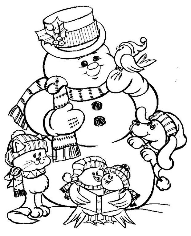 Colorare Natale Disegno Un Pupazzo Di Neve