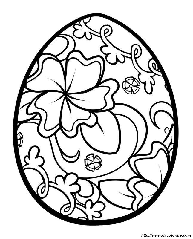 Colorare Pasqua Disegno Pittura Uovo Di Pasqua