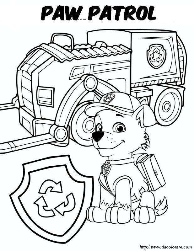 Colorare La Squadra Dei Cuccioli Paw Patrol Disegno Paw Patrol Rocky