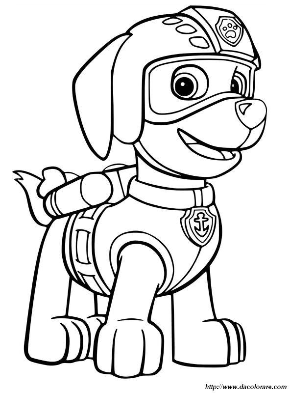 Colorare La Squadra Dei Cuccioli Paw Patrol Disegno Zuma