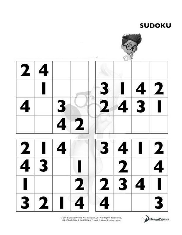 Colorare peabody disegno sudoku molto facile for Sudoku facile da stampare