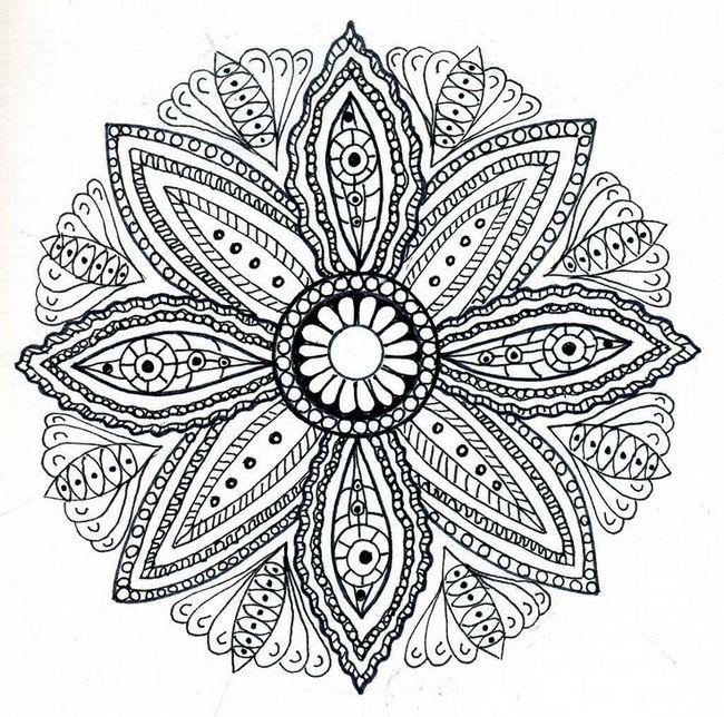Colorare Per Adulti Disegno Mandala Per Adulto Da Colorare