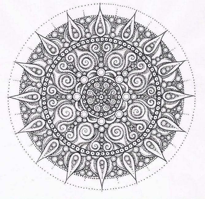 Colorare Per Adulti Disegno Un Mandala Per Adultijpeg
