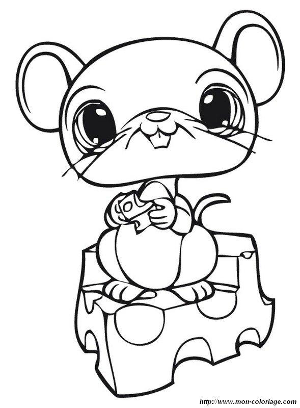 Colorare littlest pet shop disegno un piccolo topo gourmande - Dessin pet shop ...