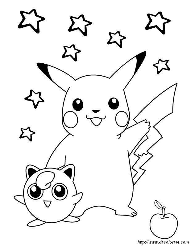 Colorare Pokémon Disegno Pikachu Ama Il Suo Amico