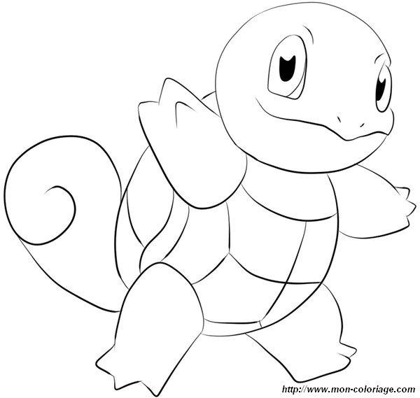 Colorare Pokémon Disegno Tartaruga Squirtle
