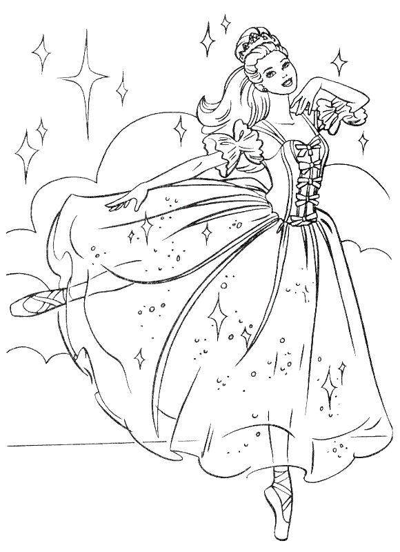 Colorare Principessa E Principe Disegno Danza Di Barbie Come Una