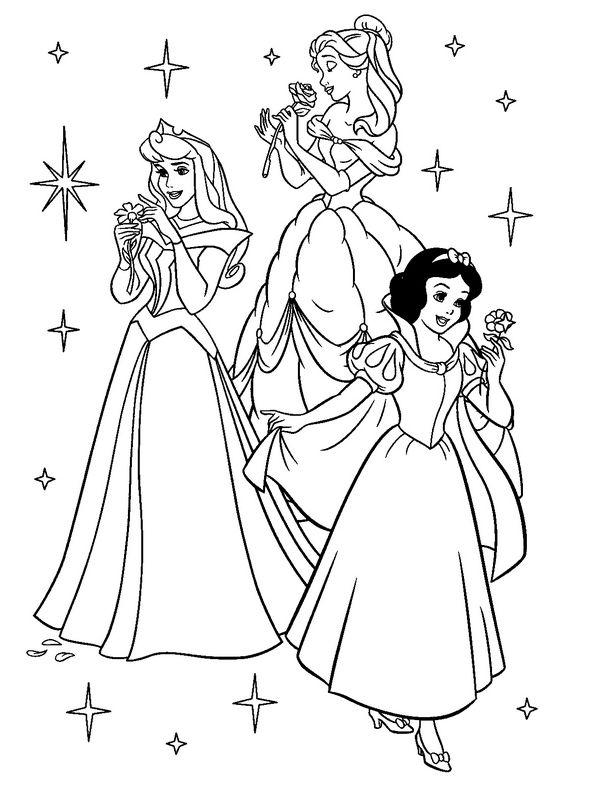 Colorare Principessa E Principe Disegno Tre Principesse Da Colorare