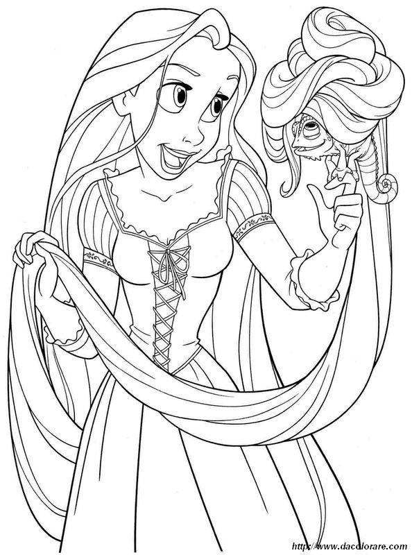Walt Disney Da Colorare.Colorare Principessa E Principe Disegno Walt Disney Pictures Rapunzel