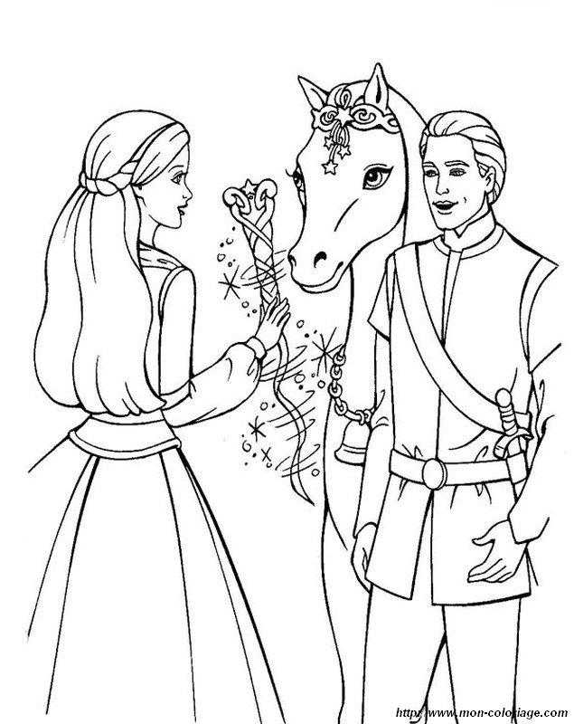 Colorare Principessa E Principe Disegno Barbie Principessa E Ken