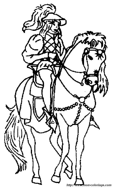Colorare principessa e principe disegno principe - Dessins de chevaux a imprimer ...