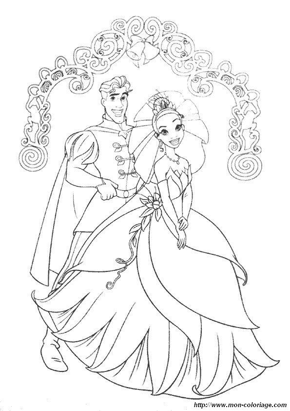 Colorare La Principessa E Il Ranocchio Disegno 12