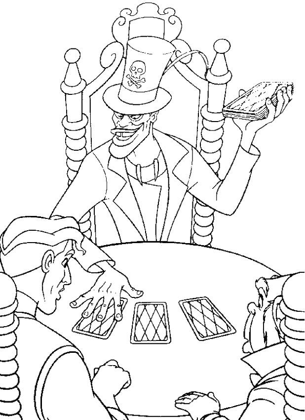 Colorare La Principessa E Il Ranocchio Disegno Dr Facilier Uomo Ombra