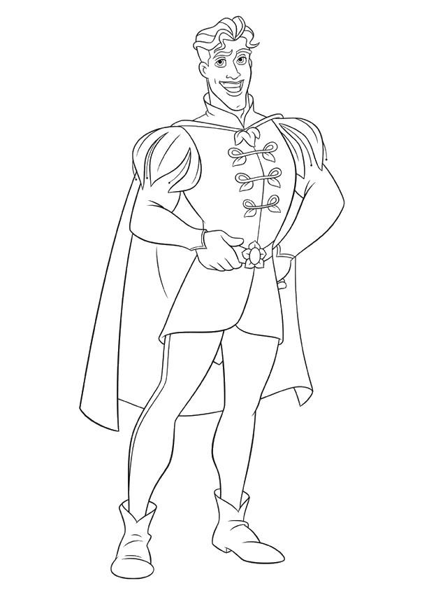 Colorare Principessa Ranocchio Disegno