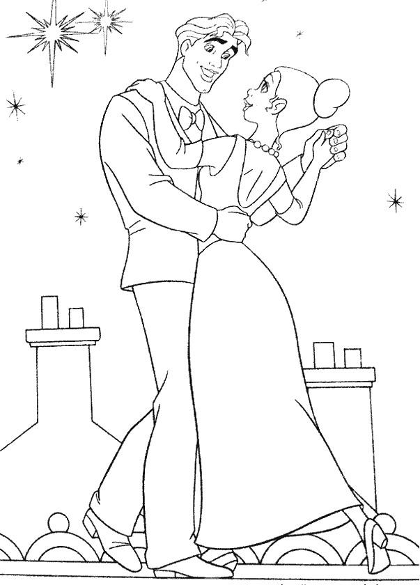 Colorare La Principessa E Il Ranocchio Disegno Tiana E Naveen