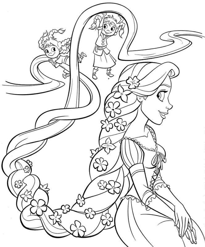 Colorare rapunzel disegno rapunzel il gioco di for Immagini di rapunzel da colorare