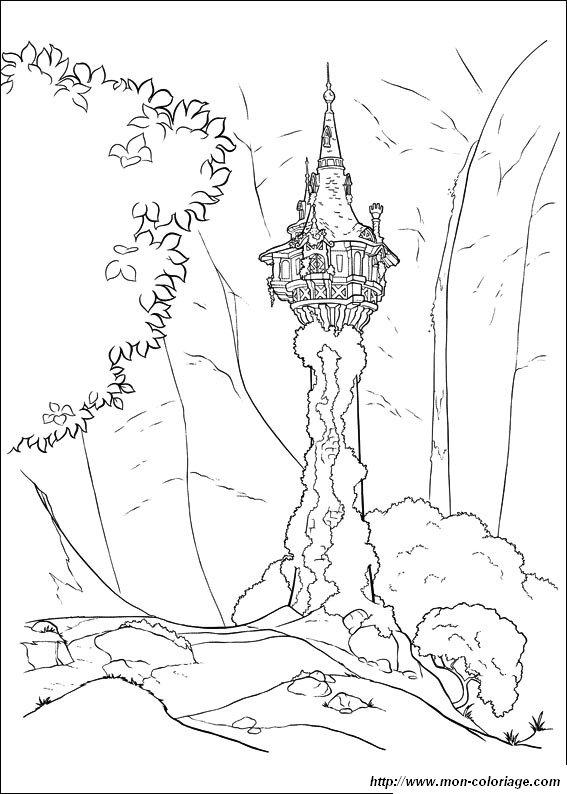 Colorare Rapunzel Disegno Rapunzel Principessa
