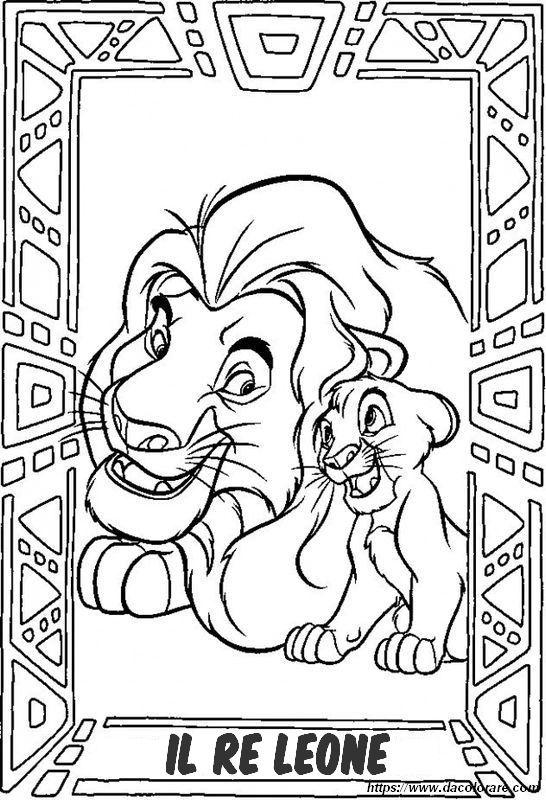 Colorare Il Re Leone Disegno Il Re Leone E Altri Classici Disney
