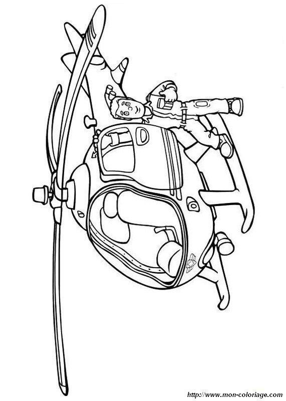 Colorare Sam Il Pompiere Disegno Elicottero Antincendio