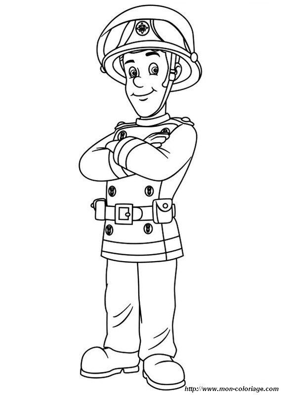 Colorare Sam Il Pompiere Disegno Io Sono Sam Vigile Del Fuoco