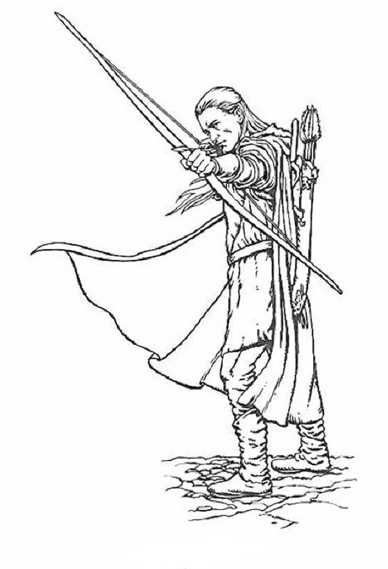 Colorare Il Signore Degli Anelli Disegno Legolas Il Principe Degli Elfi