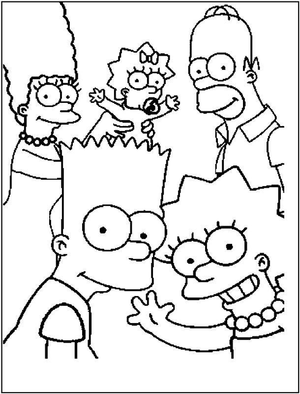 Colorare I Simpson Disegno La Famiglia Simpson Da Colorare