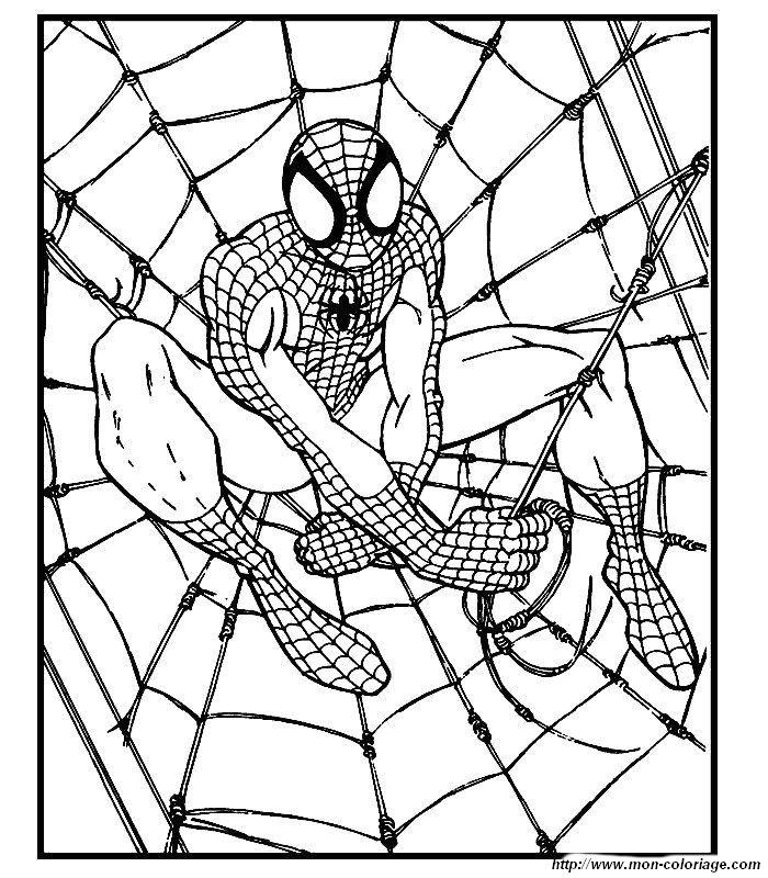 Colorare spiderman disegno 016 for Spiderman da colorare pdf