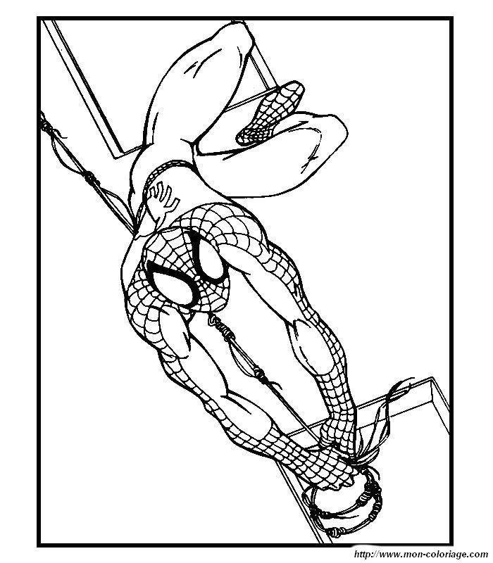 Immagini da colorare spiderman for Immagini da colorare supereroi