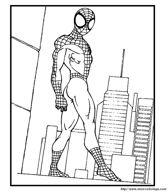 Immagini da colorare spiderman Disegni spiderman da colorare gratis