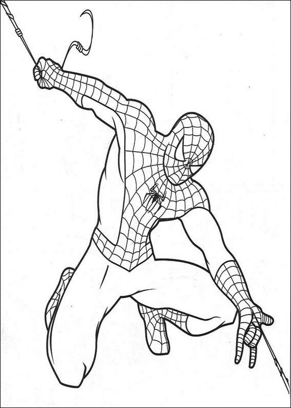Spiderman Da Colorare Gratis Con Disegni Di Spiderman Fotogallery