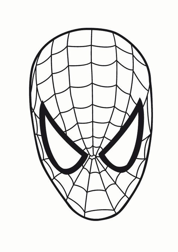 Maschera Di Spiderman Da Colorare E Ritagliare Powermall