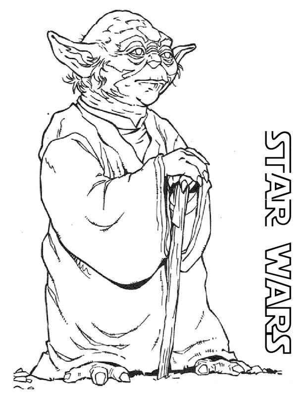 Colorare Star Wars Disegno Star Wars Maestro Yoda