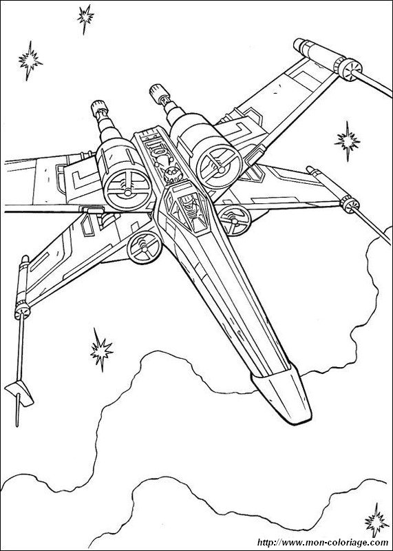 X Wing Line Drawing : Colorare star wars disegno astronave wing